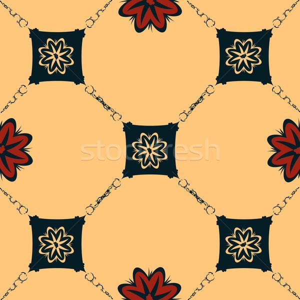 Sem costura art noveau telha estilo fundo Foto stock © lirch