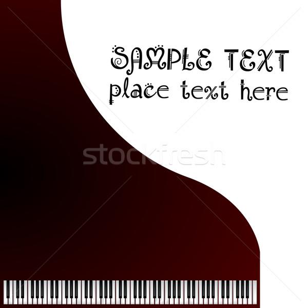 Müzik tebrik kartı kuyruklu piyano doku ahşap sanat Stok fotoğraf © lirch