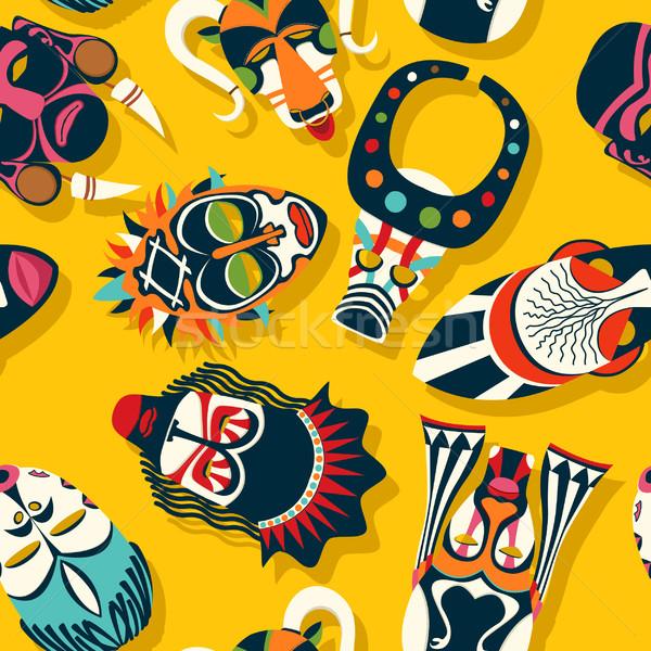 племенных маске этнических лице аннотация искусства Сток-фото © lirch
