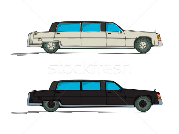 Cartoon limousine witte business auto ontwerp Stockfoto © lirch