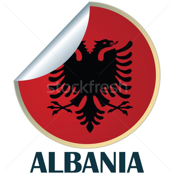 Albania Sticker Stock photo © lirch
