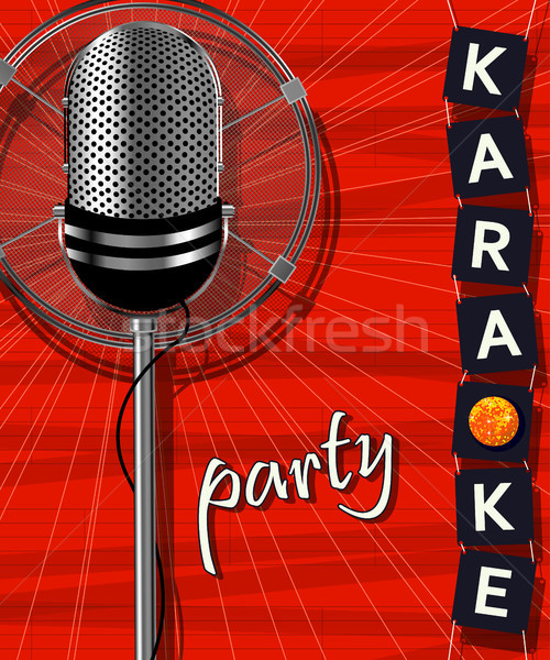 Karaoke fiesta textura diseno micrófono club Foto stock © lirch