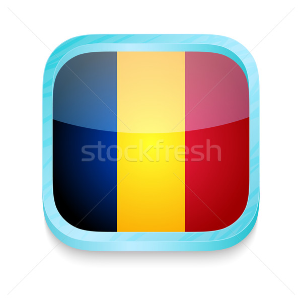 Pulsante Romania bandiera telefono frame Foto d'archivio © lirch