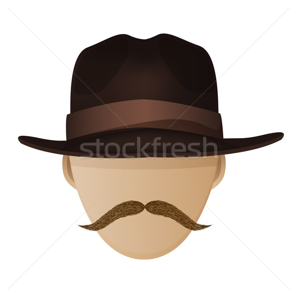 Hipster hat and moustache Stock photo © lirch