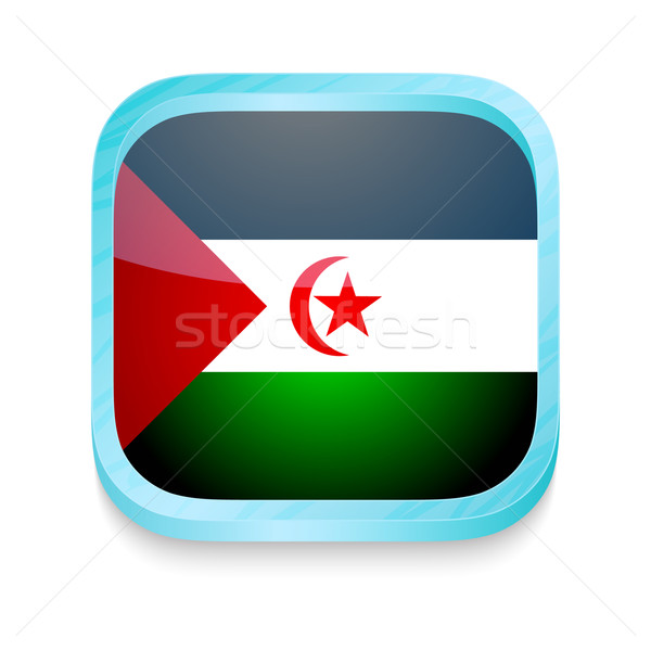 Smart phone button with Western Sahara flag Stock photo © lirch