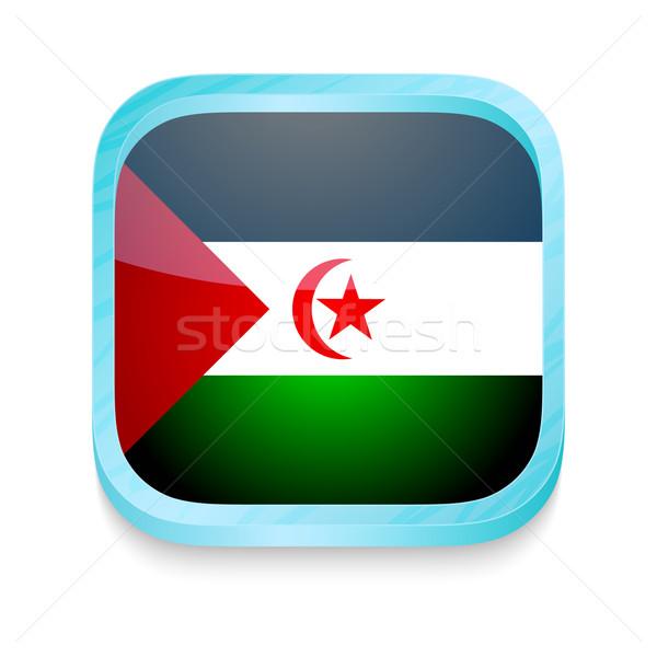 Botón occidental sáhara bandera teléfono Foto stock © lirch