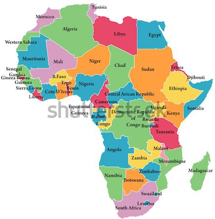 map of Africa Stock photo © lirch