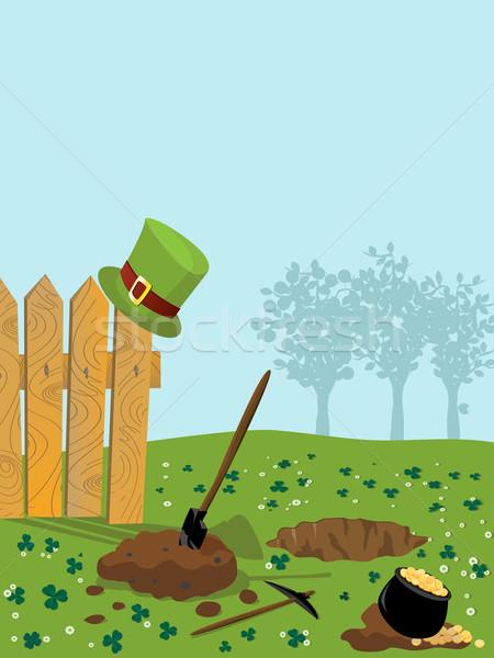 Tesouro buraco desenho animado arte árvore primavera Foto stock © lirch