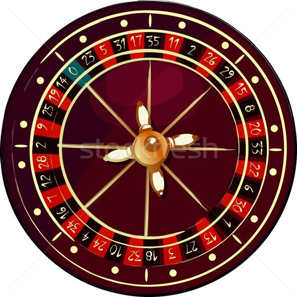 Grunge rueda de la ruleta blanco pintura rojo negro Foto stock © lirch
