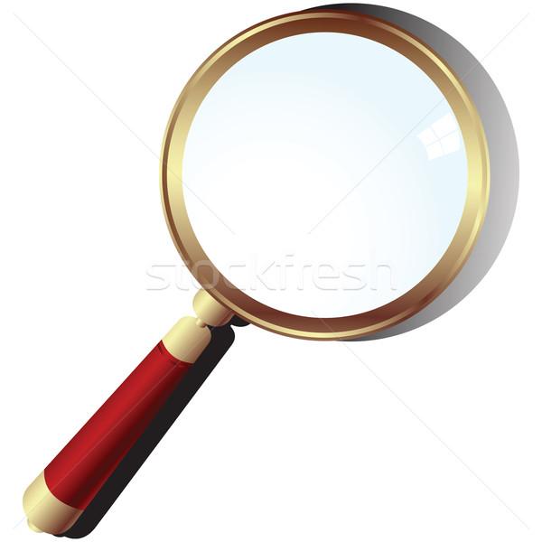 Golden magnifying glass Stock photo © lirch