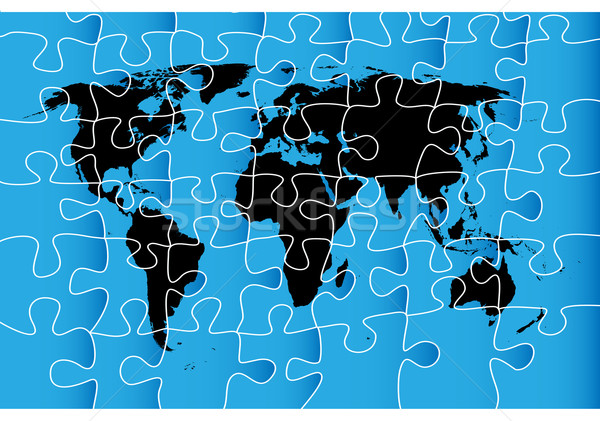 World map puzzle vector illustration richard laschon lirch add to lightbox download comp gumiabroncs Choice Image