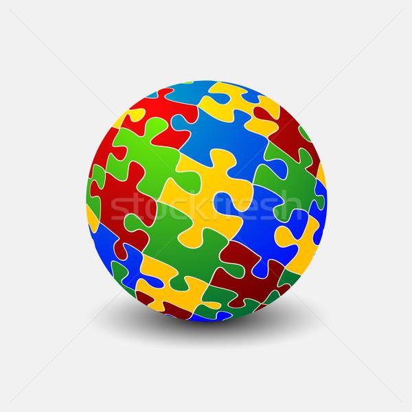 Puzzle nem háló absztrakt háttér művészet Stock fotó © lirch