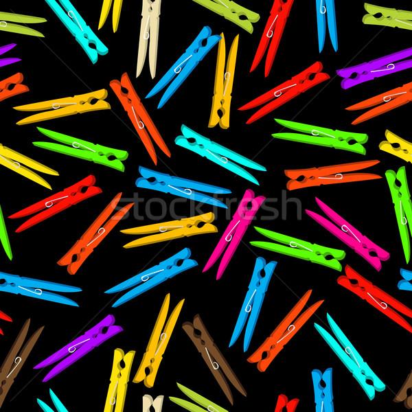 Seamless clothespin Stock photo © lirch