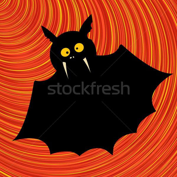 Vicces denevér grafikus rajz művészet illusztráció Stock fotó © lirch