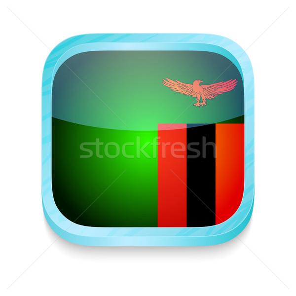 Düğme Zambiya bayrak telefon çerçeve Stok fotoğraf © lirch