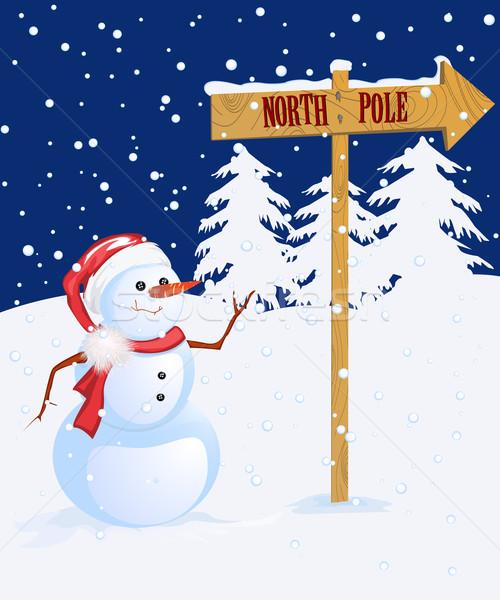 Snow man Stock photo © lirch