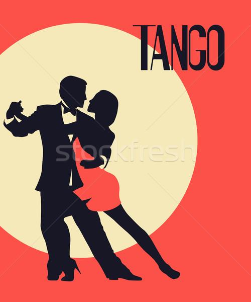 Tango bailarines tarjeta anunciante elegante Pareja Foto stock © lirch