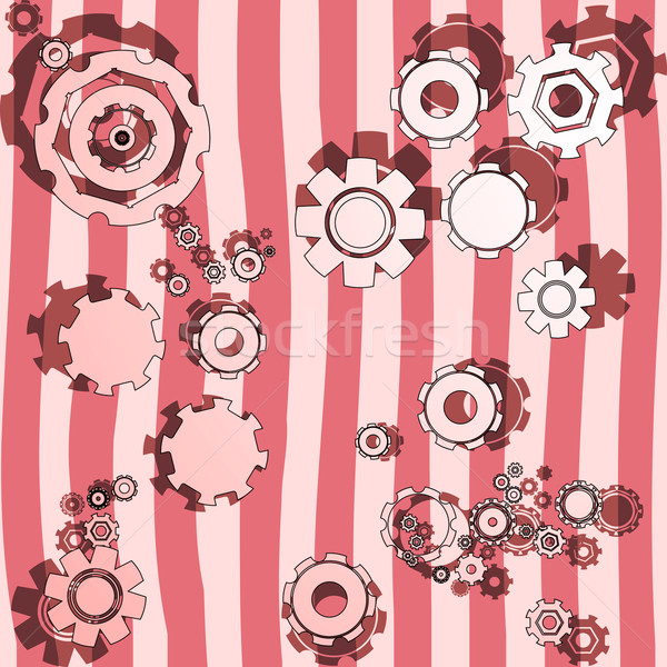cogwheels illustrated Stock photo © lirch