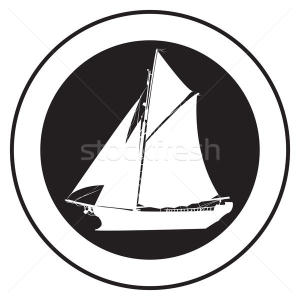 Emblem of an old ship 4 Stock photo © lirch