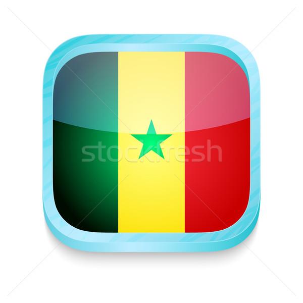 Okostelefon gomb Szenegál zászló telefon keret Stock fotó © lirch