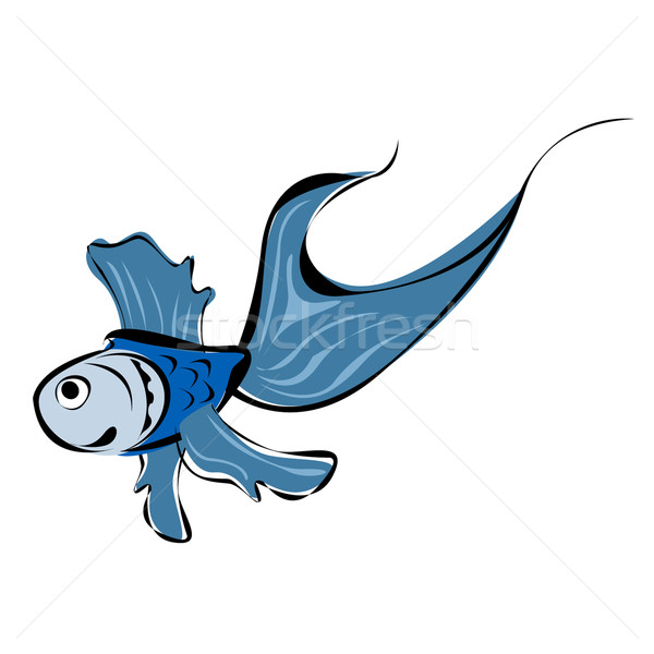 Cute blue fish Stock photo © lirch