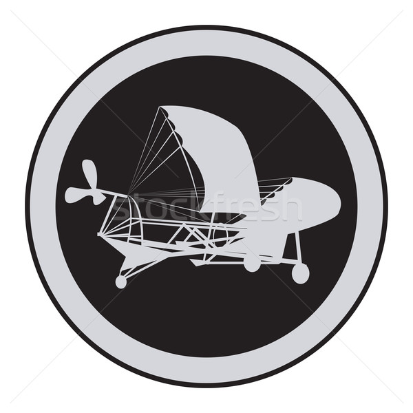 Emblem of an vintage plane 3 Stock photo © lirch