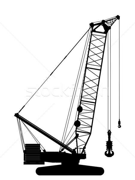 Crawler crane silhouette Stock photo © lirch