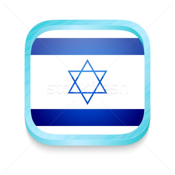 Okostelefon gomb Izrael zászló telefon keret Stock fotó © lirch