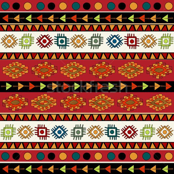 Absztrakt kisebbségi minta élénk színek tarka Stock fotó © lirch