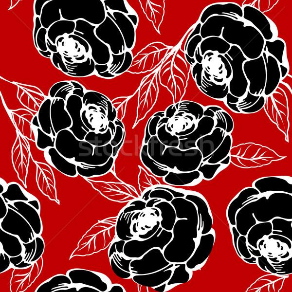 Roses pattern Stock photo © lirch