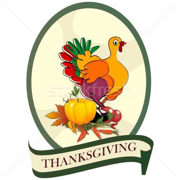 Thanksgiving day sticker Stock photo © lirch