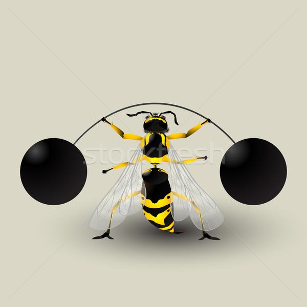 Stock photo: Loosing weight bee