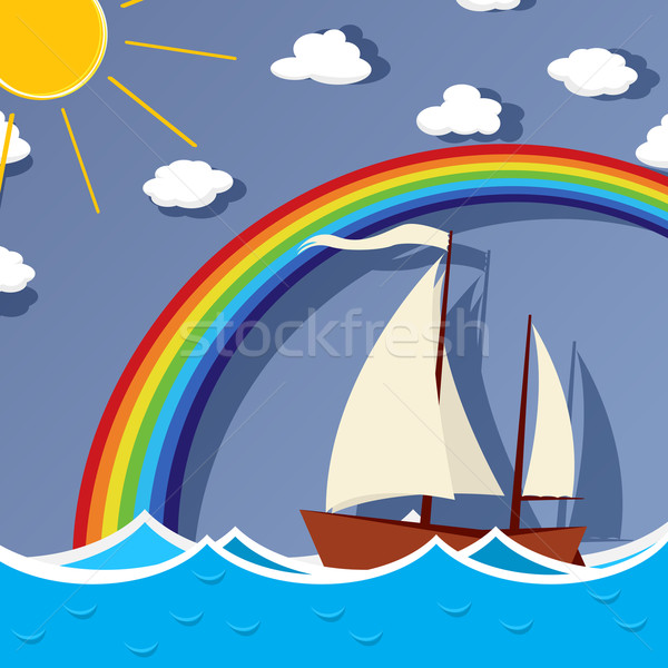 Sailing background card Stock photo © lirch
