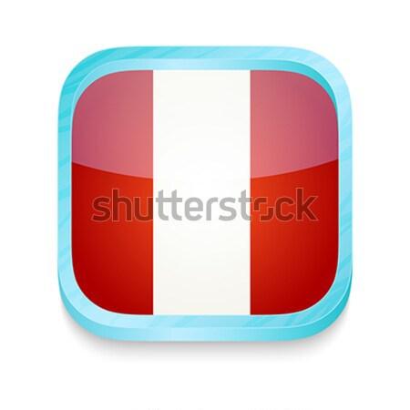 Smart phone button with Peru flag Stock photo © lirch