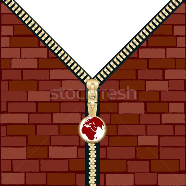 Unzipped wall Stock photo © lirch