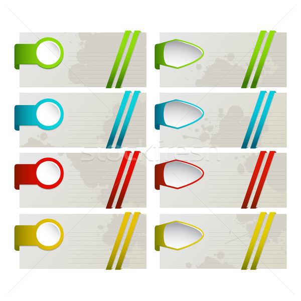 Set of colored desing elements Stock photo © lirch