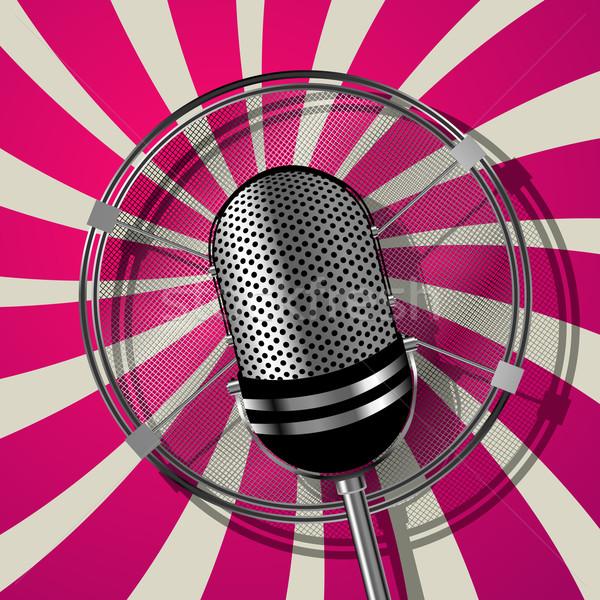 Retro style microphone Stock photo © lirch