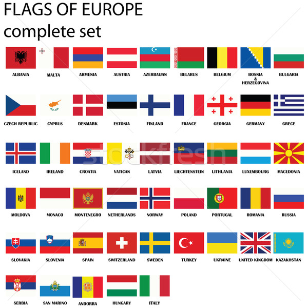 Flags of Europe Stock photo © lirch