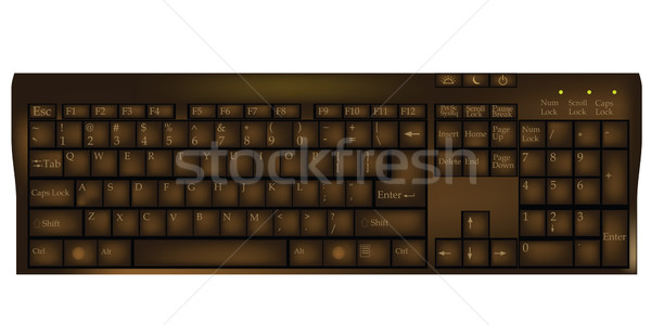 Chocolate keyboard Stock photo © lirch
