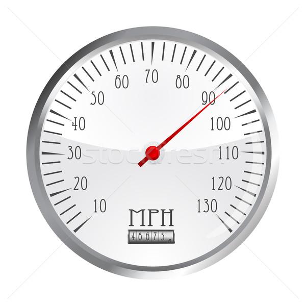 vintage car speedometer Stock photo © lirch