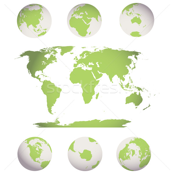 world map and globes Stock photo © lirch