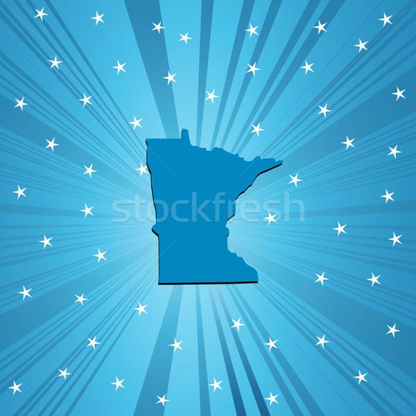 Azul Minnesota mapa abstrato Foto stock © lirch