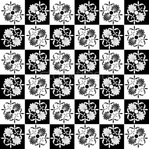 Art noveau padrão gráfico estilo abstrato Foto stock © lirch