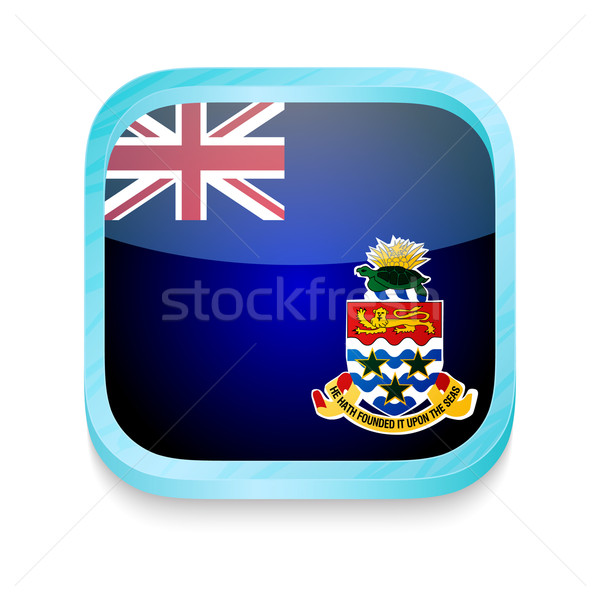 Smart phone button with Cayman Islands flag Stock photo © lirch