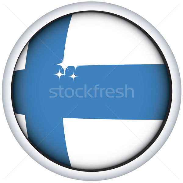 Finnish flag button Stock photo © lirch