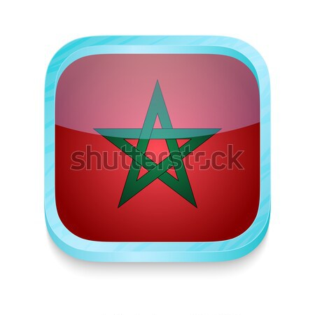 Smart phone button with Morocco flag Stock photo © lirch