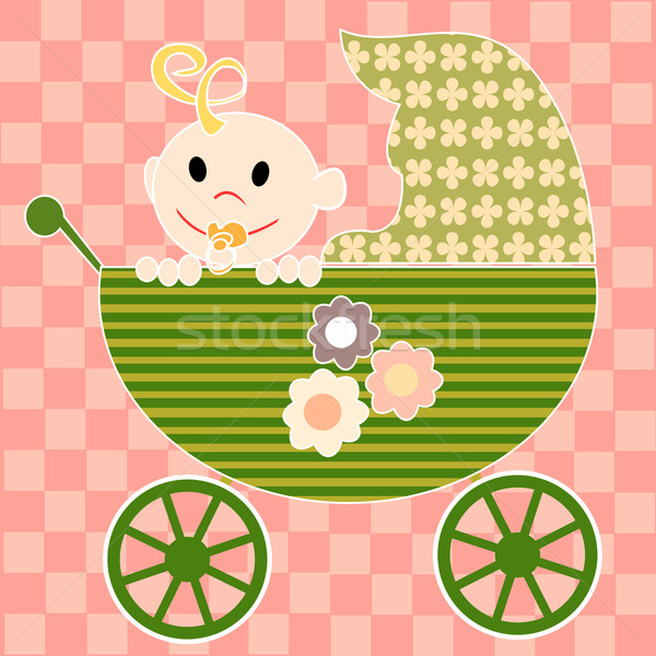 Little baby in stroller Stock photo © lirch