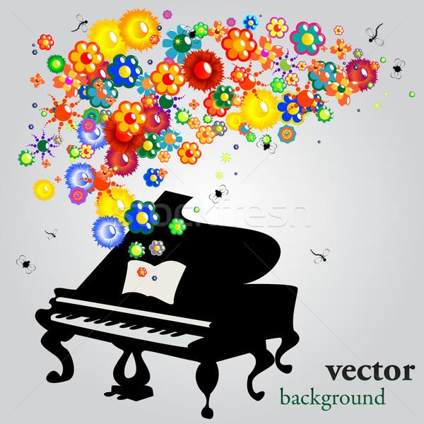 Hang virágok absztrakt vektor háttér kártya Stock fotó © lirch