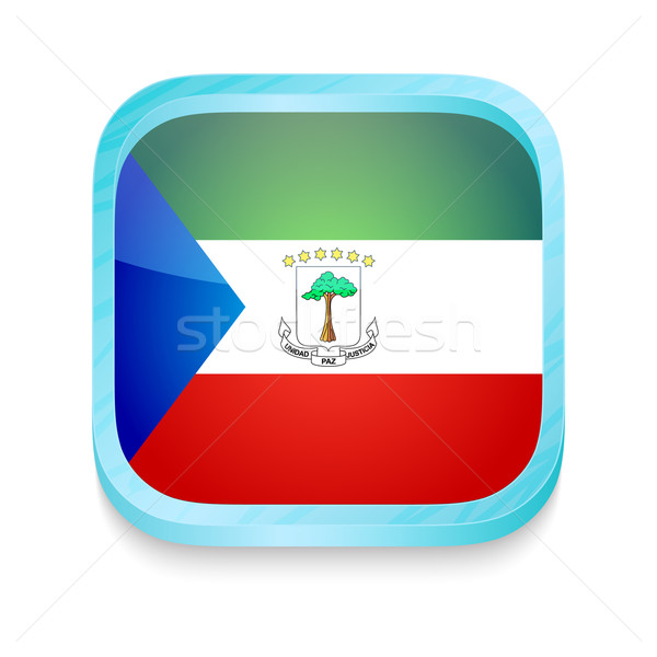 Smart phone button with Equatorial Guinea flag Stock photo © lirch