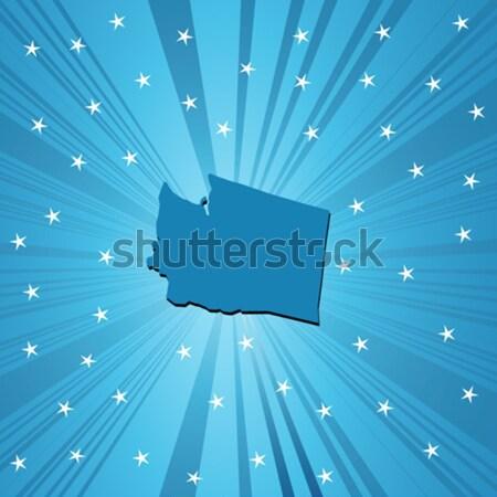 Azul Oklahoma mapa abstrato Foto stock © lirch